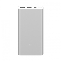 Внешний аккумулятор Xiaomi Mi Power Bank 2i 10000 mAh (2 USB) Silver